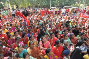 Anganwadi workers, ayahs demand better pay